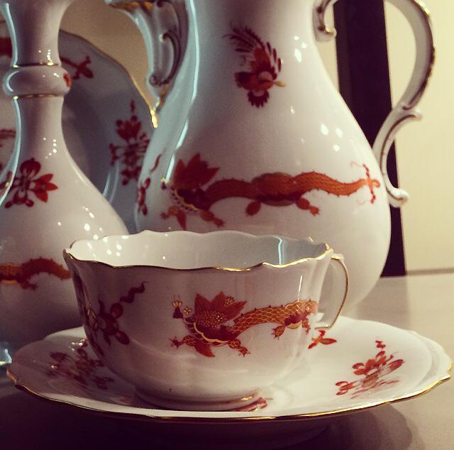 Meissen disegno dragoni Ming