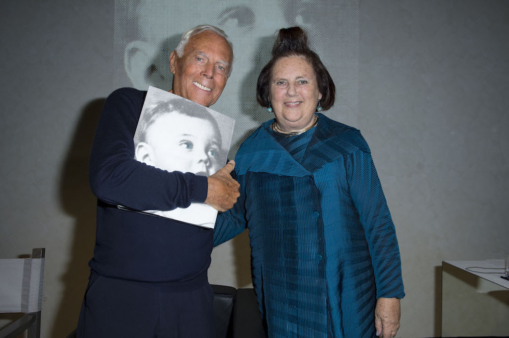 Giorgio Armani e Suzy Menkes