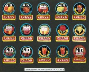 Zuegg, etichette del 1954