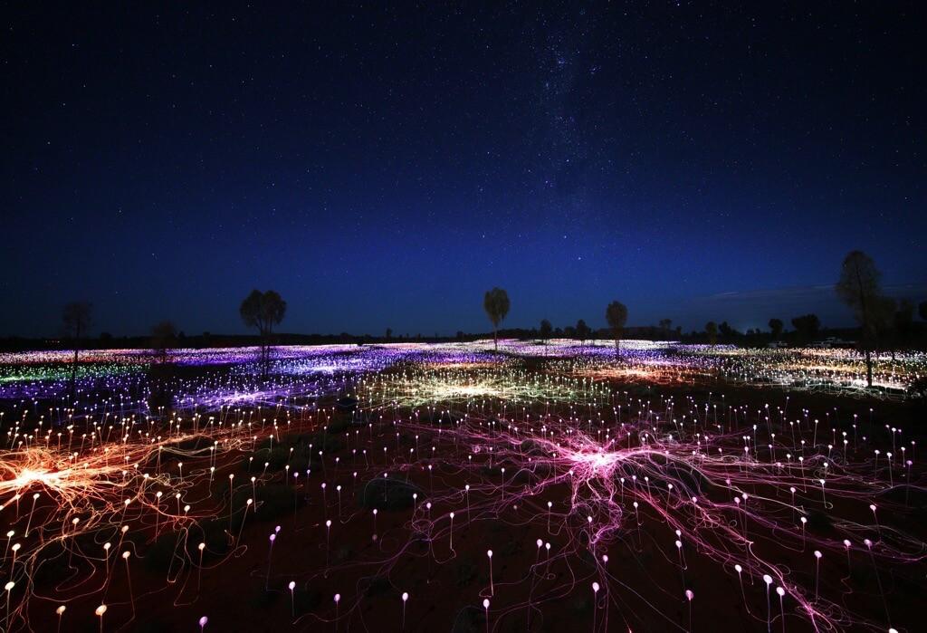 Field Of Light Uluru - - Under the night sky0X0A1126_xl
