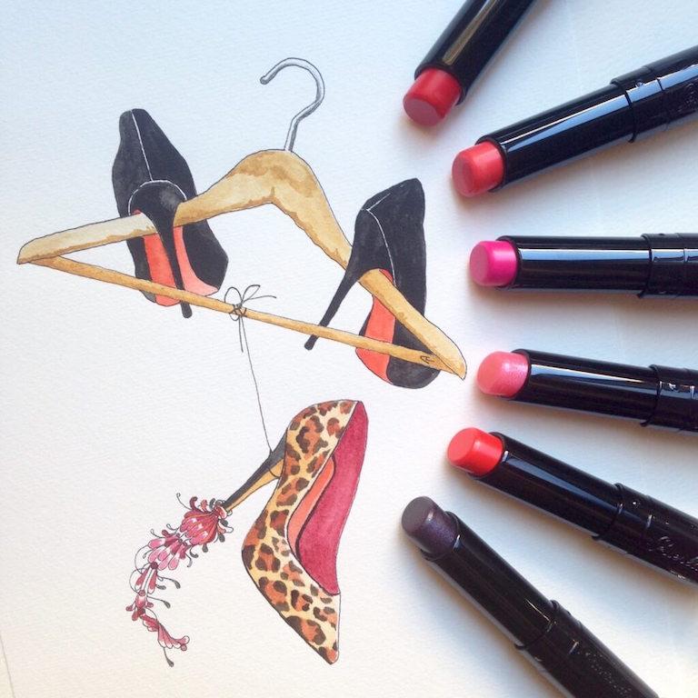 Guerlain, La Petite Robe Noire make-up rossetti aperti