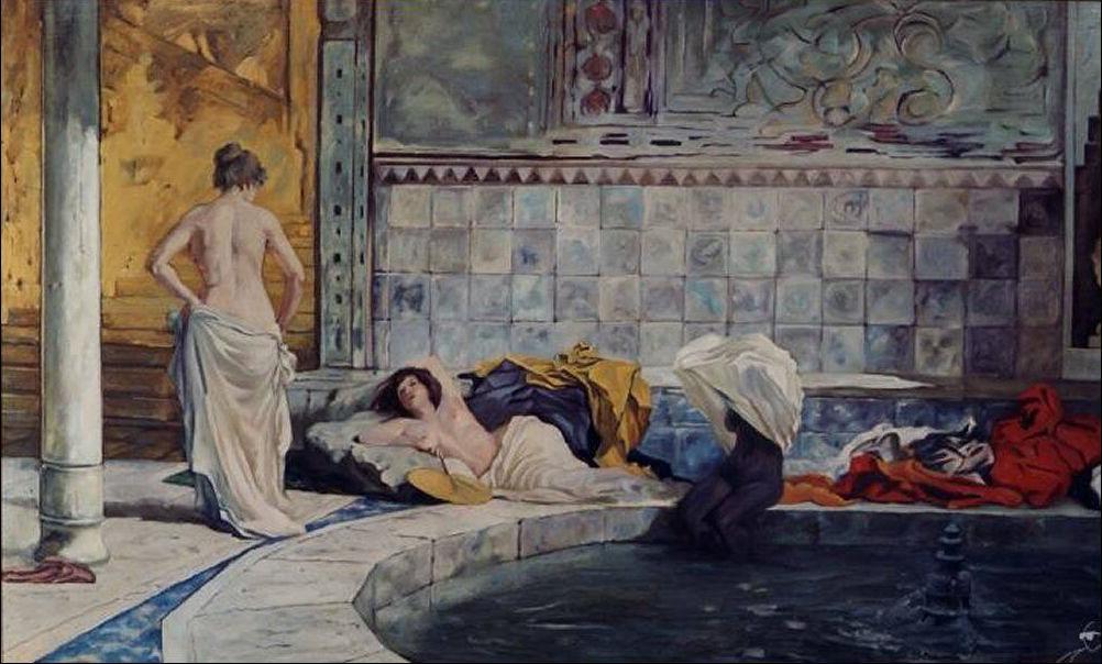 Hamam il bagno turco - Il bagno turco dipinto ...