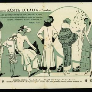 Cartellone pubblicitario di una collezione autunno inverno, donna e bambina