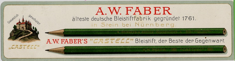 Faber-Castell_Book mark with Castell 9000 motif from 1908
