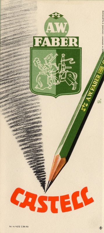 Faber-Castell_Castell 9000 advertisement from 1937