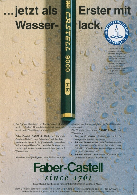 Faber-Castell_Castell 9000 advertisement from 1992