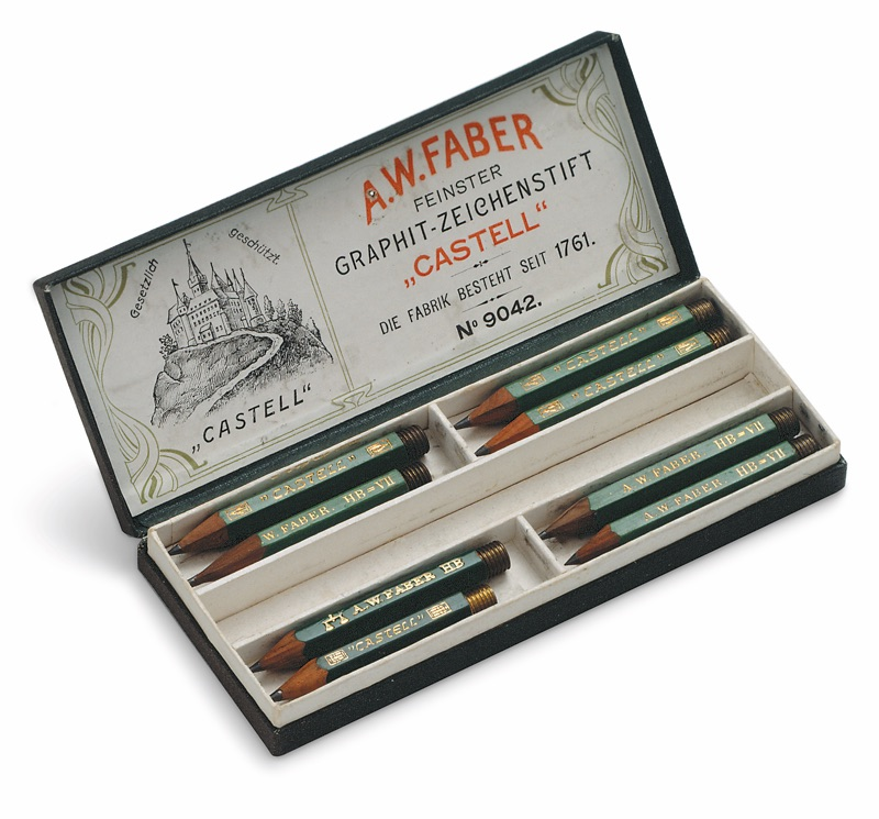 Faber-Castell_Castell 9000 pencils in Faber-Castell archives (ca. 1908)