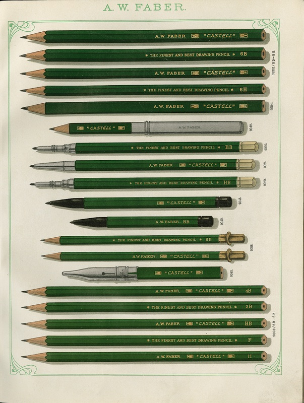 Faber-Castell_The Castell 9000 in the 1909 sales catalogue