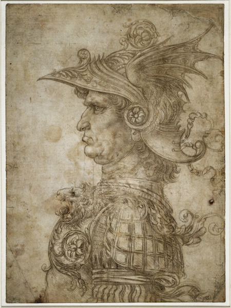 Silverpoint - Leonardo da Vinci - Busto di guerriero (1475-1480)
