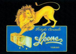 Pastiglie Leone cartello vintage