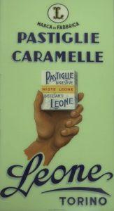 Pastiglie Leone cartello anni '50-60