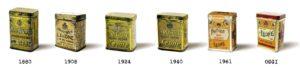 Pastiglie Leone cronologia lattine