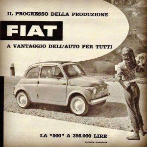 Fiat 500 archivio pubblicità