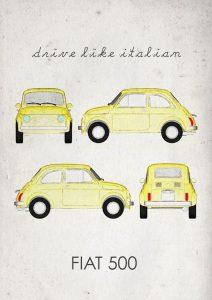 Fiat 500 disegno