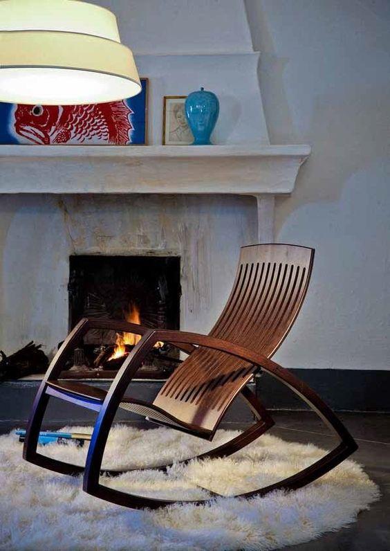 Sedute di design le pi belle sedie e panche a dondolo for Sedie di design 2017