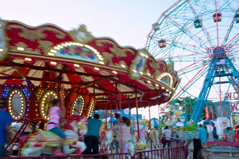 BB Carousel at Luna Park in Coney Island. photo cred Julienne Schaer