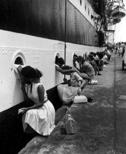 Amerigo Vespucci, appena prima della partenza (1963), Roberto Borra. Photographic archive of Marina Militare Italiana
