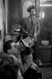 Bar a la Bastille, Paris (Carnival), 1956, Frank Horvat