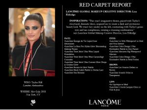 Lancome make up Met Gala 2018 2