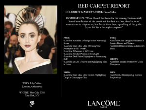 Lancome make up Met Gala 2018