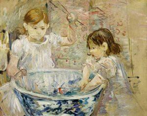 Berthe Morisot - Bambini che giocano (1886)