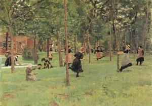 Bilder Lieberamann - Max spielende kinder (1882)