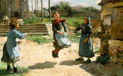 Dinet Etienne - Bambini che saltano (1884)