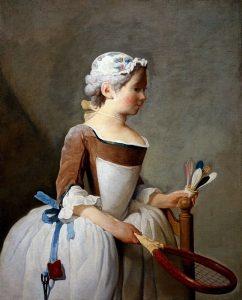 Fanciulla con il volano, Jean Baptiste Siméon Chardin (1740)