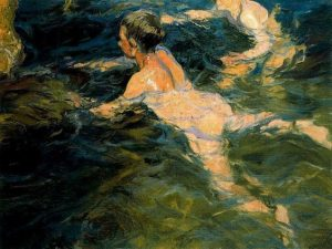 Joaquín Sorolla - Swimmers, Javea (1905)