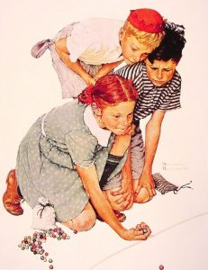 Norman Rockwell, Marble Champion (1939)