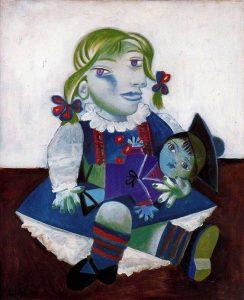 """Pablo Picasso- """"Maya con la sua bambola"""" (1938)"""