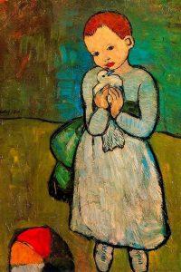 Pablo Picasso, La bambina con la colomba (1901)