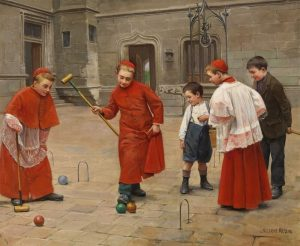 Paul Charles Chocarne Moreau - Playing Cricket