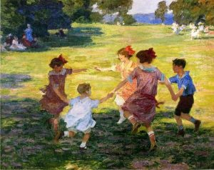 Ring Around the Rosie - Edward Henry Potthast (1910)