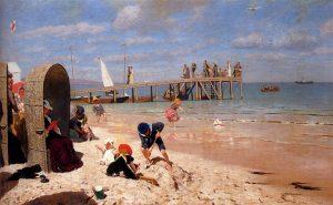 Wilhelm Simmler - A Sunny Day at the Beach (1900)