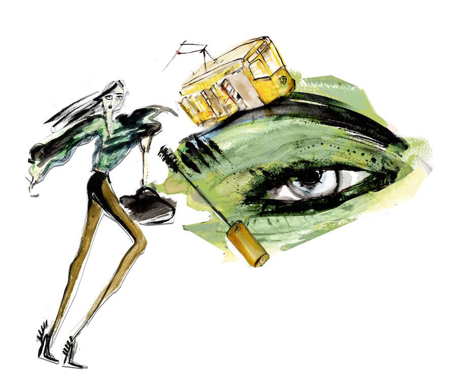 Milano e il makeup: le illustrazioni di Lucia Emanuela Curzi per Collistar